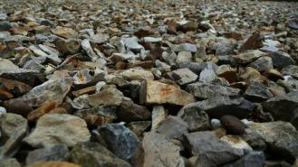 gravel road closeup