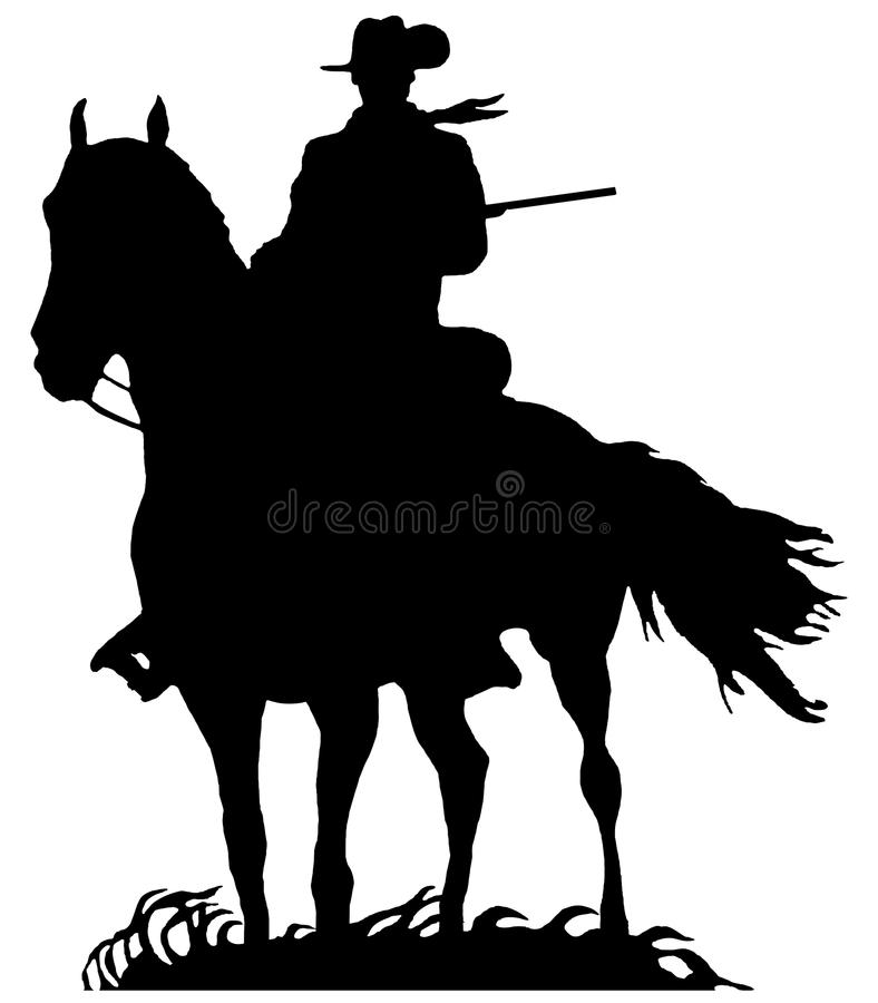 cowboy on mount silhouette