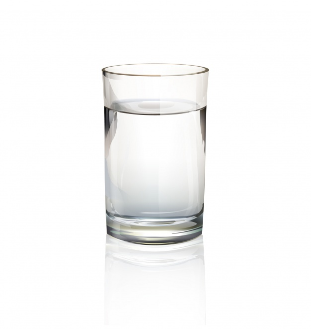 Single glass of water
