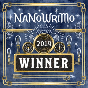 Winner's Badge 2019 NaNoWriMo