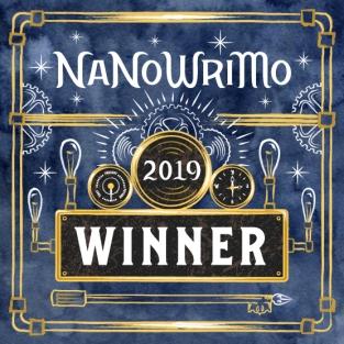 Winner's Badge 2019 NaNoWriMo