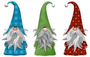 three gnomes, nisse, Joulutonttu
