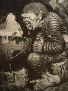 Kittelson troll boy with a cauldron
