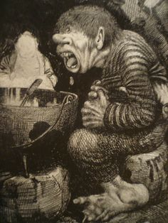 Kittelson troll boy with a cauldron