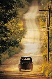 Chevy truck on a summer country road