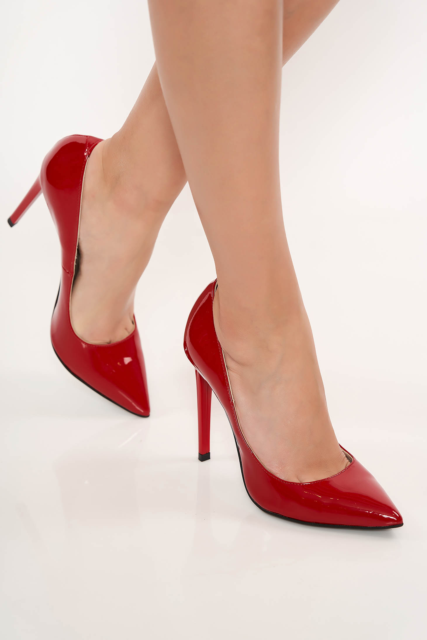 Red stiletto heels