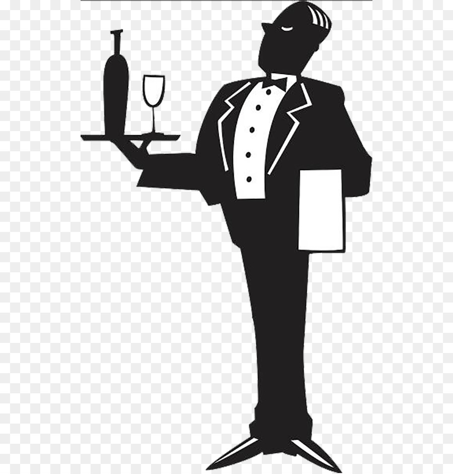 Butler offering a bottle of wine and glass