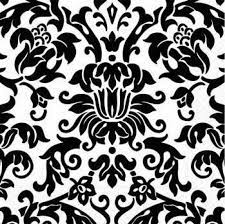 Damask pattern, black on white