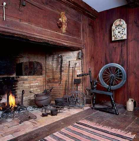 Norse fireplace kitchen